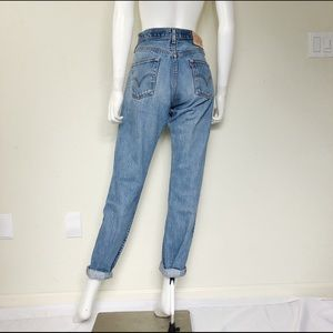 Levi's 501 Vintage High Waist Mom Jeans Button Fly
